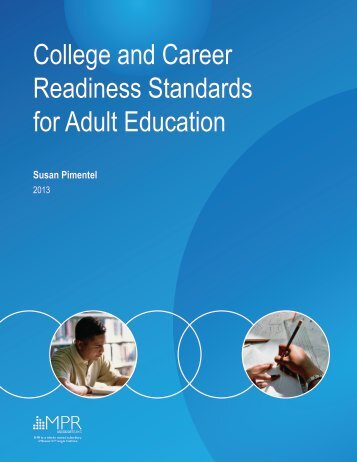 College and Career Readiness Standards for Adult Education
