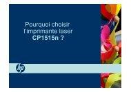 Pourquoi choisir l'imprimante laser CP1515n ? - HP