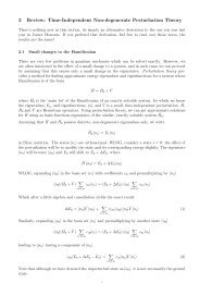 2 Review: Time-Independent Non-degenerate Perturbation Theory
