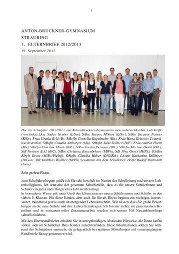 1. Elternbrief Schuljahr 2012-13 - Anton Bruckner Gymnasium ...