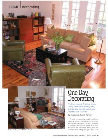 HOME Decorating - the Interior Redecorators Network