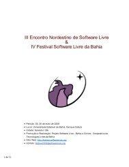 III Encontro Nordestino de Software Livre & IV Festival Software ...