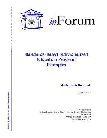 A brief history of the standards based movement in education standards based individualized education program examples fandeluxe Image collections