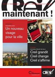 Magazine Creil Maintenant n°1 > février 2009 - Ville de Creil
