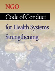 The NGO Code of Conduct for Health Systems ... - One World Trust