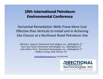 horizontal remediation wells prove more cost effective than ... - IPEC