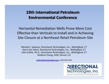 horizontal remediation wells prove more cost effective than ... - IPEC