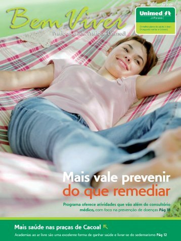 Mais vale prevenir do que remediar - Unimed Ji-Paraná