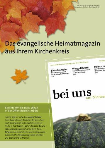 Das evangelische Heimatmagazin aus Ihrem Kirchenkreis