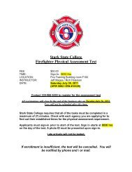 Firefighter Physical - Stark State College