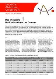 Die Epidemiologie der Demenz - Deutsche Alzheimer Gesellschaft ...