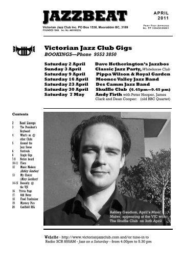 jazzbeat april11 - Victorian Jazz Club