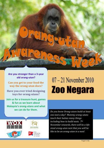 Are you stronger than a 3-year old orang-utan? Can ... - Zoo Negara