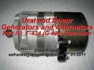 Ural and Dnepr Generators and Alternators - Good Karma Productions