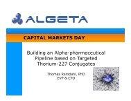 CAPITAL MARKETS DAY Building an Alpha-pharmaceutical ...