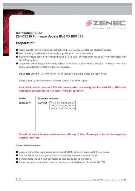 Update ZE-NC2010:Layout 1 - Zenec