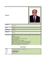 Prof.Dr. Necip KUTLU - Tıp Fakültesi - Celal Bayar Üniversitesi