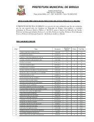 Resultado PRELIMINAR eDITAL 62-2011 - Prefeitura Municipal de ...