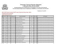 Directorate of Technical Education, Maharastra 3 ... - MKCL