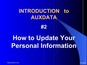 How to Update Your Personal Information