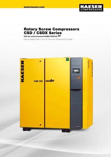 CSD/CSDX 45–90 kW - Kaeser Compressors