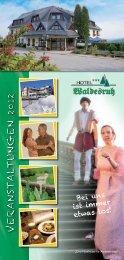 Veranstaltungen 2012 - Hotel Waldesruh