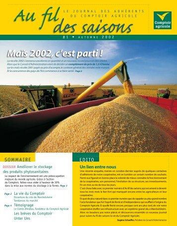 Fil Des Saisons #1 Automne 2002 - Comptoir Agricole