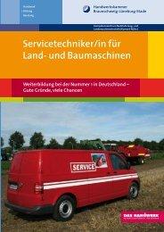 Servicetechniker/in für Land - Handwerkskammer Braunschweig ...