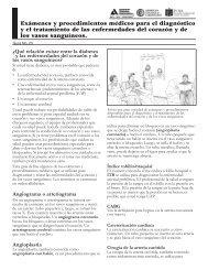 Exámenes y procedimientos médicos para el diagnóstico y el ...
