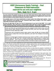 HOST (Homeowner Septic Training) - Island County Government