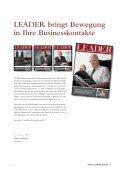 LEADER bringt Bewegung in Ihre Business- kontakte - Seite 3