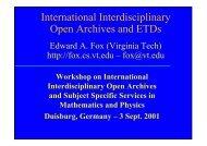 International Interdisciplinary Open Archives and ETDs