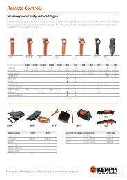 Remote controls, ancillary products - Kemppi