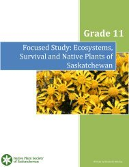 Grade 11 Lesson Plan - Native Plant Society of Saskatchewan