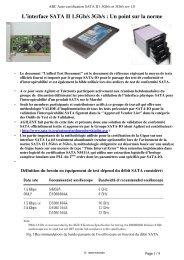 Configuration Minimale pour SATAII 3Gb/s - Free