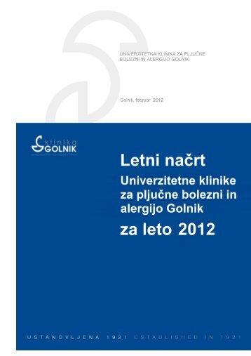 Program dela in finančni načrt 2012 (.pdf) - Bolnišnica Golnik