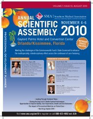 SCIENTIFIC ASSEMBLY 2010 - Southern Medical Association