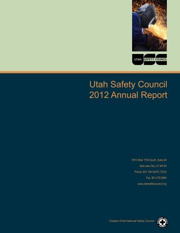 Utah Safety Council 2012 Annual Report