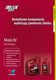 Folder MaxLife olej silnikowy