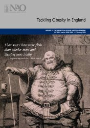 Tackling Obesity in England - National Audit Office