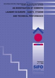 an investigation of domestic laundry in europe - habits ... - SIFO