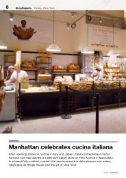 Manhattan celebrates cucina italiana - New Store Europe