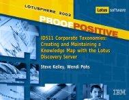 ID511 Corporate Taxonomies: Creating and ... - Lotus Sandbox