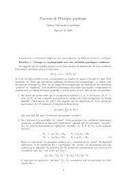 Parcours de Physique quantique