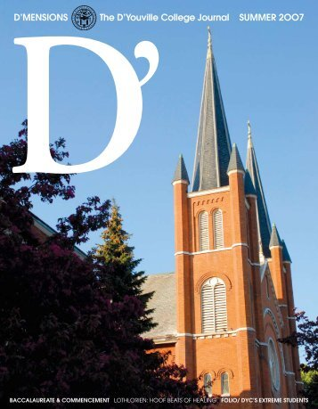 d'mensions the d'youville college Journal summer 2oo7