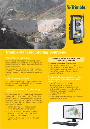 Trimble Dam Monitoring Solutions