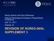 REVISION OF NUREG-0654, SUPPLEMENT 3 - National REP
