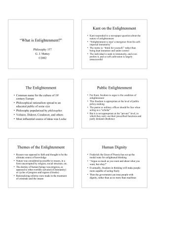 What is Enlightenment? - the UC Davis Philosophy Department