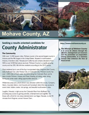 County Administrator Mohave County, AZ