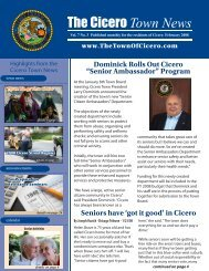 Click here to view the Cicero Town News - The Town of Cicero